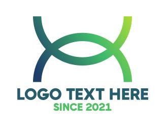 Curve - Gradient Curve X logo design