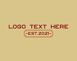 """""""Red Classic Wordmark"""" by brandcrowd"""