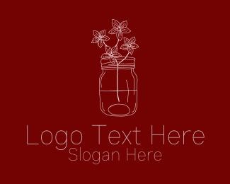 Jar - Homemade Wildflower Flower Vase logo design
