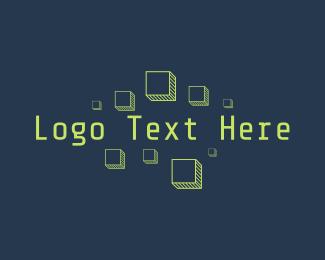 Information Technology - Technology Pixel Wordmark logo design