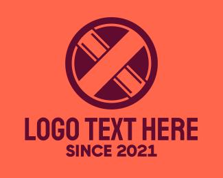 Letter X - Red Letter X Sign logo design