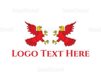 Austrian - Red Eagles logo design