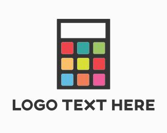 Math - App Calculator logo design