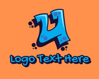 Youth - Graffiti Art Letter U logo design