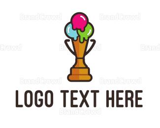 Cone - Premium Ice Cream logo design