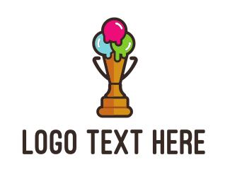 Ice - Premium Ice Cream logo design