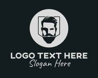 Hipster Bearded Guy logo design