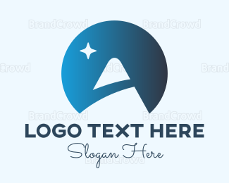Travel Agent - Blue Moon Mountain logo design