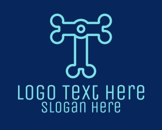 Electronics - Letter T Electronics logo design
