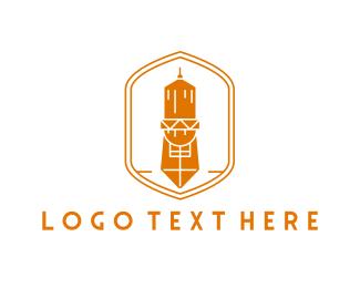 Barn - Orange Tower logo design