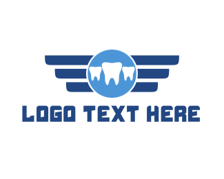 Molar - Teeth Emblem logo design