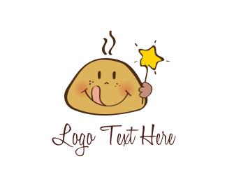 Biscuit - Star Cookie Kid logo design