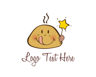 Biscuit - Star Cookie Kid logo design