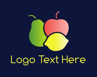 Pear - Colorful Fruit  logo design