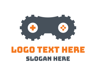 Multiplayer - Double Gear Gaming logo design