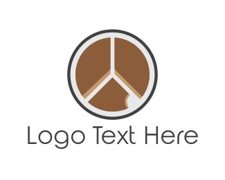 Bite - Peace Cake logo design