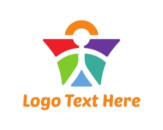 Kindergarten - Angel Boy logo design
