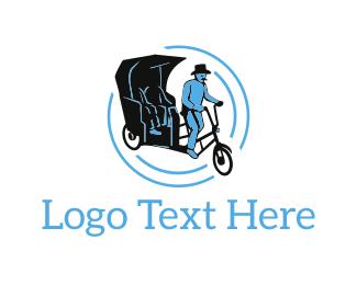 Transport - Classic Rickshaw logo design