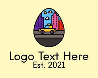 Taxi Service - City Taxi Egg logo design
