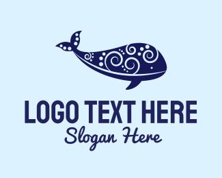 Whale - Whale Art logo design