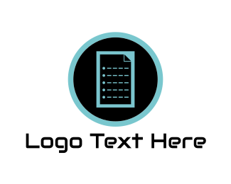 Document - Digital Document logo design