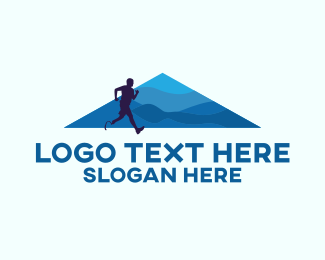 Run - Disabled Runner logo design