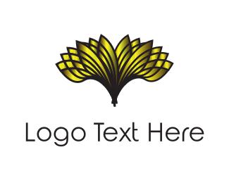 Banquet - Golden Flower logo design