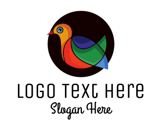Macaw - Colorful Modern Dove logo design
