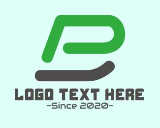 Minecraft - Gaming Monogram P & B logo design