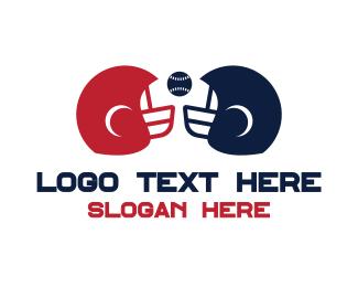 Headgear - Baseball Helmet logo design