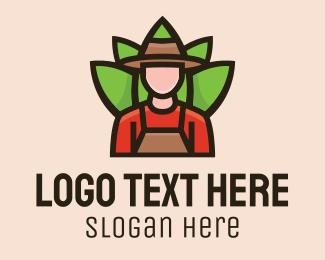 Grass - Farmer Gardener logo design
