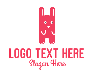 Cartoon - Cute Rabbit Cartoon logo design