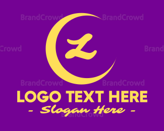 Magical - Yellow Crescent Lettermark logo design