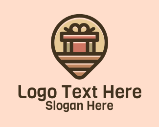Package - Gift Factory Location Pin logo design