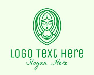 Beauty Pageant - Eco Green Woman logo design