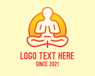 Enlightenment - Yoga Meditation Guru logo design