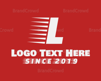 """""""Red Fast Letter"""" by BrandCrowd"""