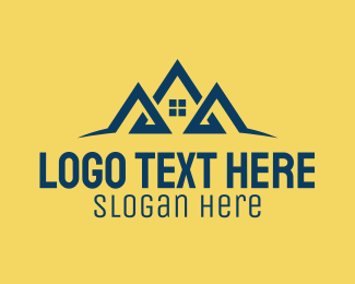 Land Investment - House Attic Letter A logo design