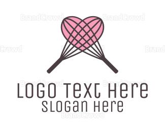 Dough - Baking Whisker Heart logo design