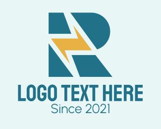 Electrical Engineer - Lightning Letter R  logo design