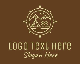 Tourist Destination - Outdoor Camping Compass logo design