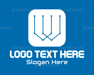 Software - Tech W logo design