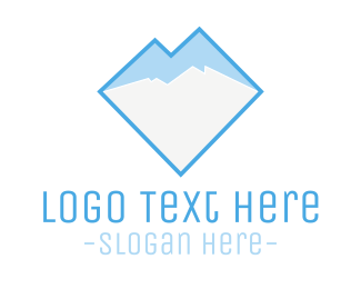 Glacial - Ice & Mountain logo design