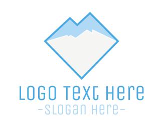 Glacier - Ice & Mountain logo design