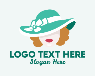 Glamorous - Fashion Hat Woman logo design