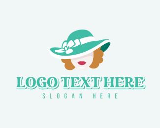 Hat - Fashion Hat Woman logo design