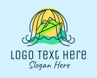 Voyage - Ocean Mountain Travel logo design