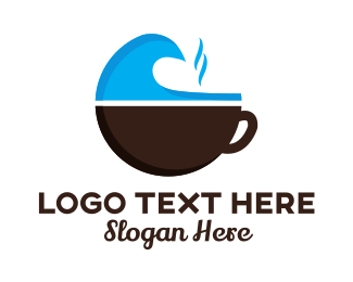 Coffee - Wave Mug logo design