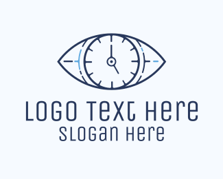 Alarm - Eye Time Clock logo design