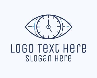 Eye - Eye Time Clock logo design
